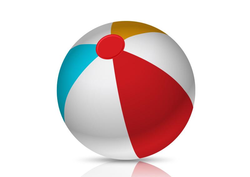 colorful beach ball free vector rh superawesomevectors com beach ball vector image free beach volleyball ball vector