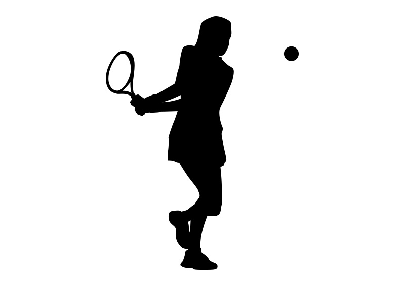 girl playing tennis black silhouette on white background tennis racket clipart png tennis racket clipart free