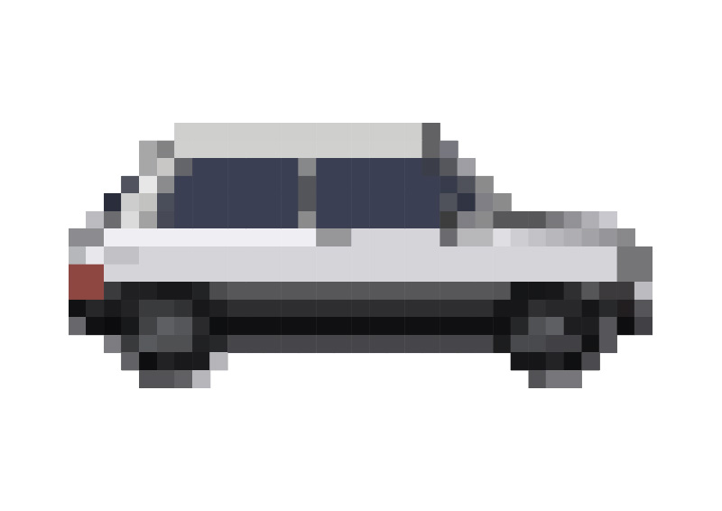 Pixel Art Vector Small Car