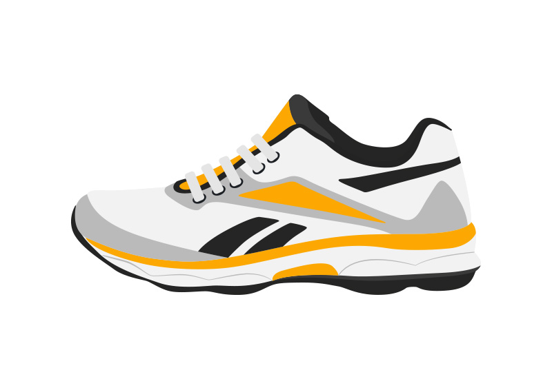 Running Shoes Vector Free Download