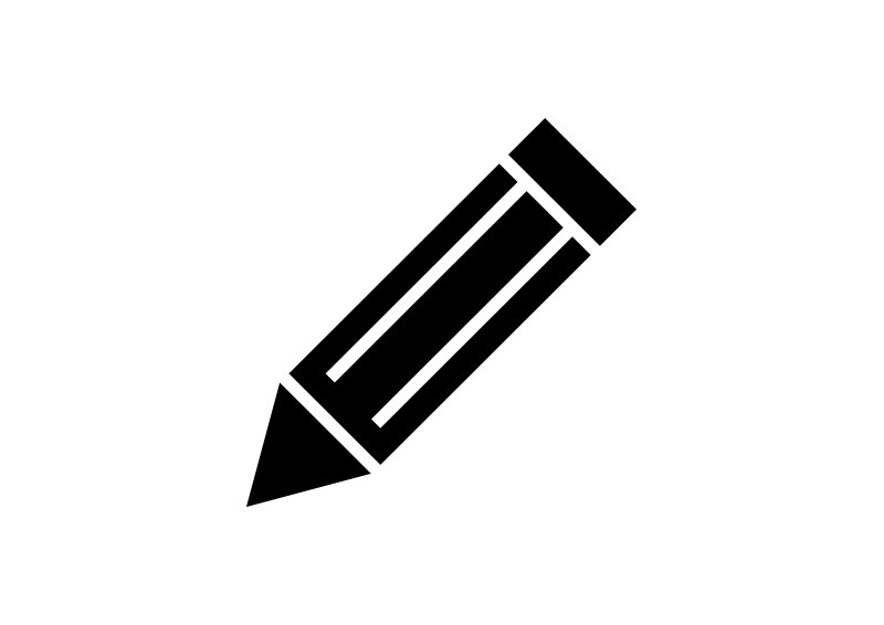 Simple Black Pencil Vector Icon