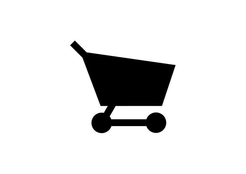 Simple Black Shopping Cart Icon