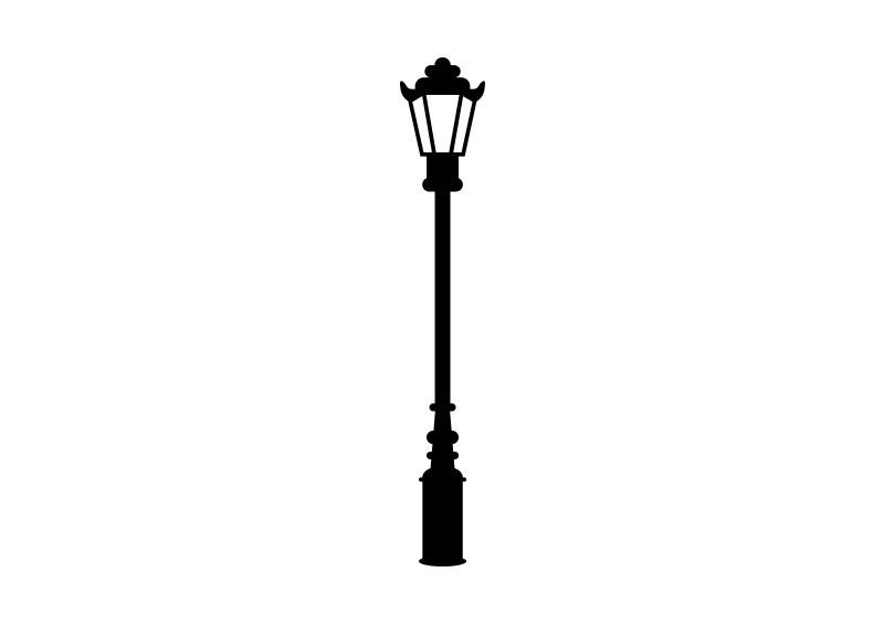 Retro Street Lamp Vector