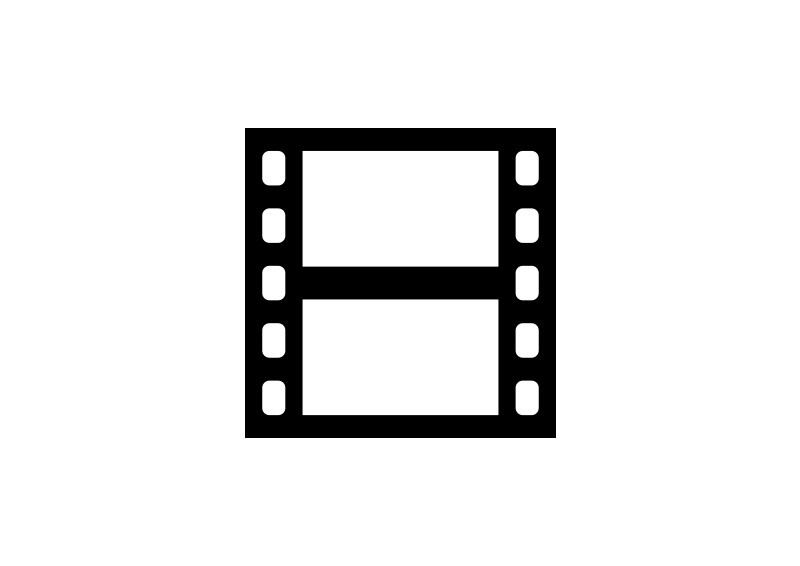 Naked sexy film strip icon facial