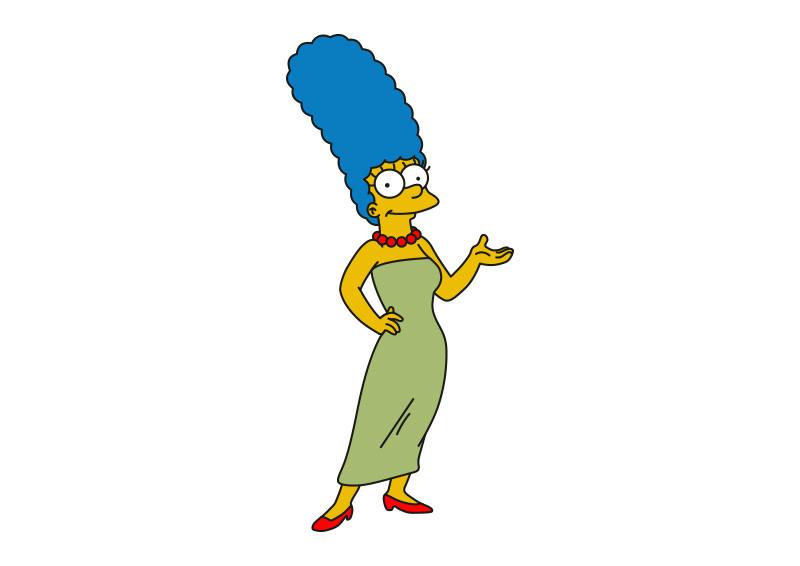 Marge Marjorie Jacqueline Bouvier Simpson Vector