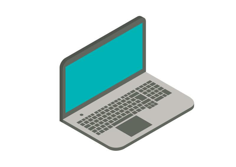 Laptop Isometric Flat Vector Illustration Laptop Vector Illustration