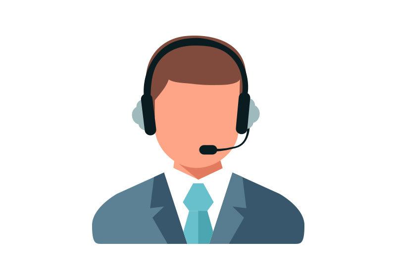 Call Center Operator Flat Vector Icon