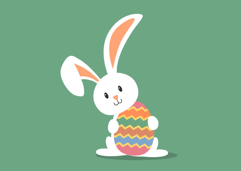 Easter Bunny Free Vector Superawesomevectors