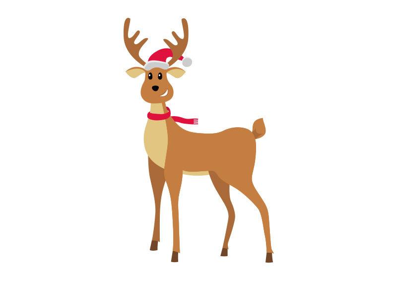 Christmas Reindeer.Christmas Reindeer Vector Illustration Free Download