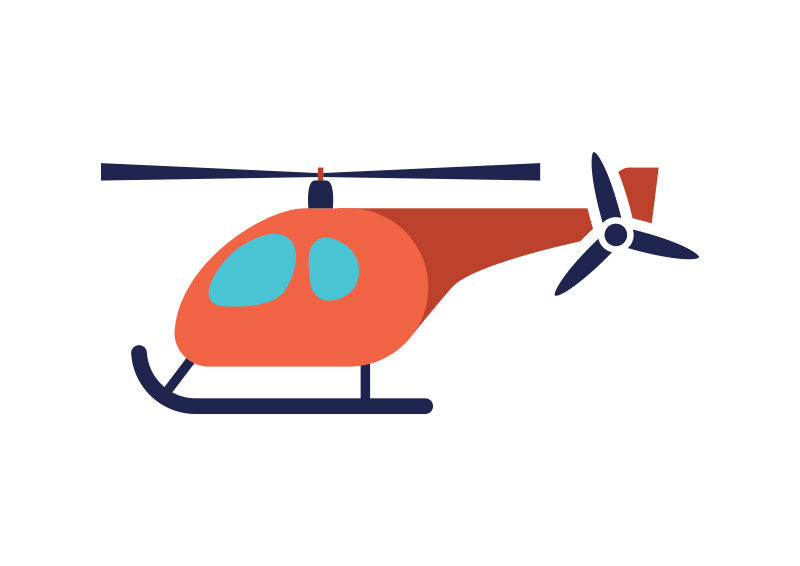 helicopter flat vector illustration Free Valentine's Art For Valentine's Day Clip Art for Free