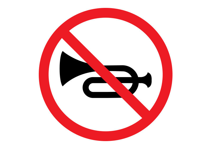 All Traffic Signs >> No Horn Traffic Sign - download free vector