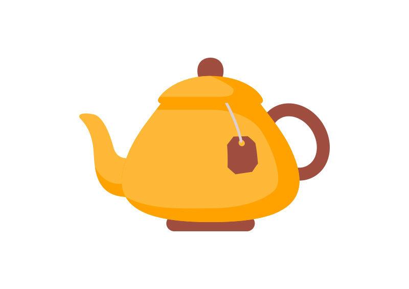Tea Pot Flat Vector - SuperAwesomeVectors