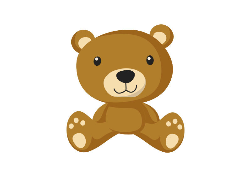 Teddy Bear Flat Vector Superawesomevectors