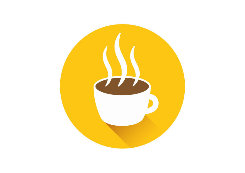 Hot Coffee Cup >> Flat Coffee Cup Icon - SuperAwesomeVectors