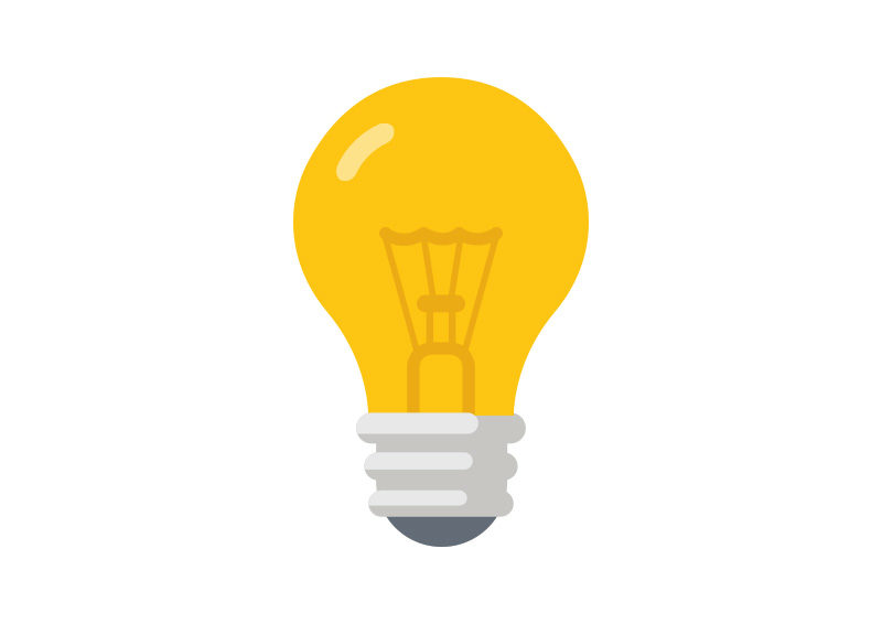 light bulb vector flat light bulb vector superawesomevectors 590