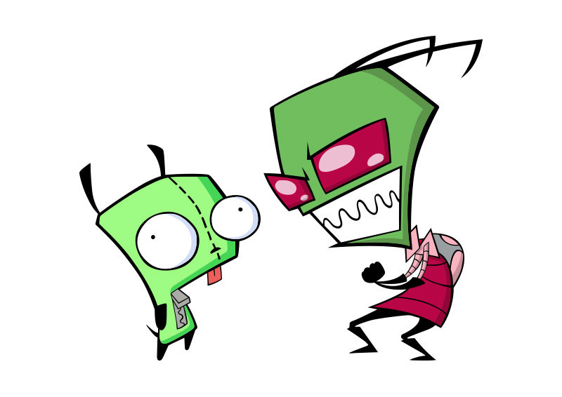 Zim And GIR From Invader Series Free Vector