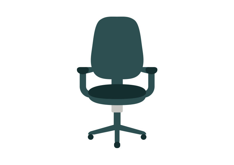 Office Chair Flat Vector Icon