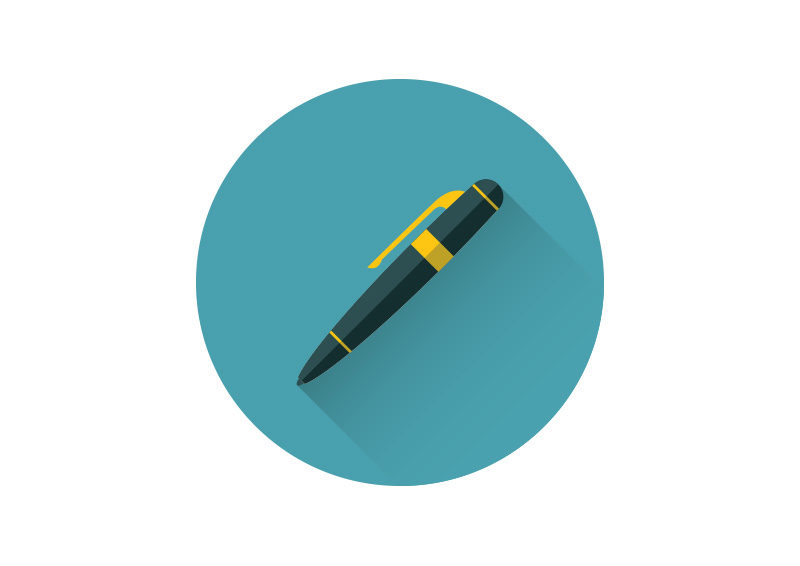 pen flat vector icon superawesomevectors pen flat vector icon superawesomevectors
