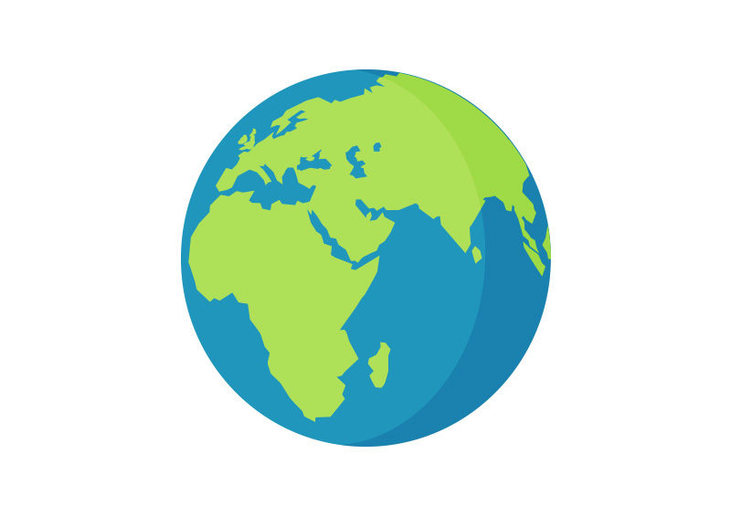 Planet Earth Free Flat Vector Icon - SuperAwesomeVectors