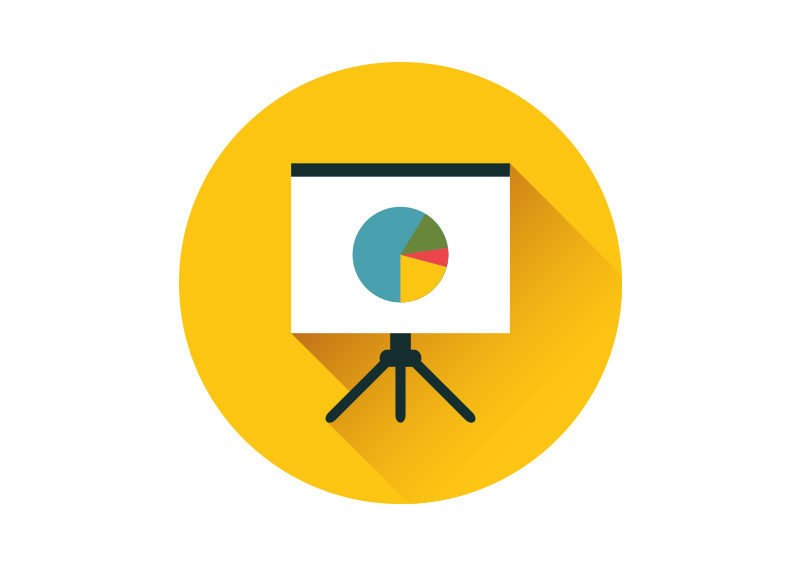 presentation whiteboard flat vector icon