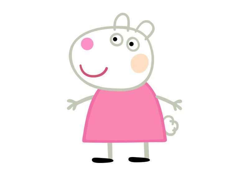 suzy sheep peppa pig character free vector