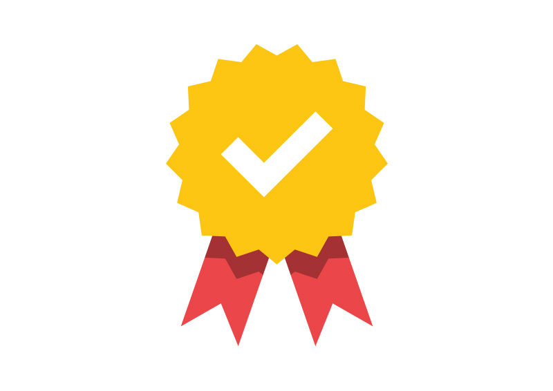 Quality Badge Flat Icon - SuperAwesomeVectors