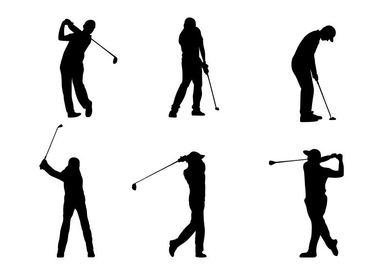 Golf Silhouettes Vector Superawesomevectors